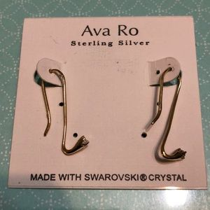 Ava Ro gold sterling silver wire drop earrings